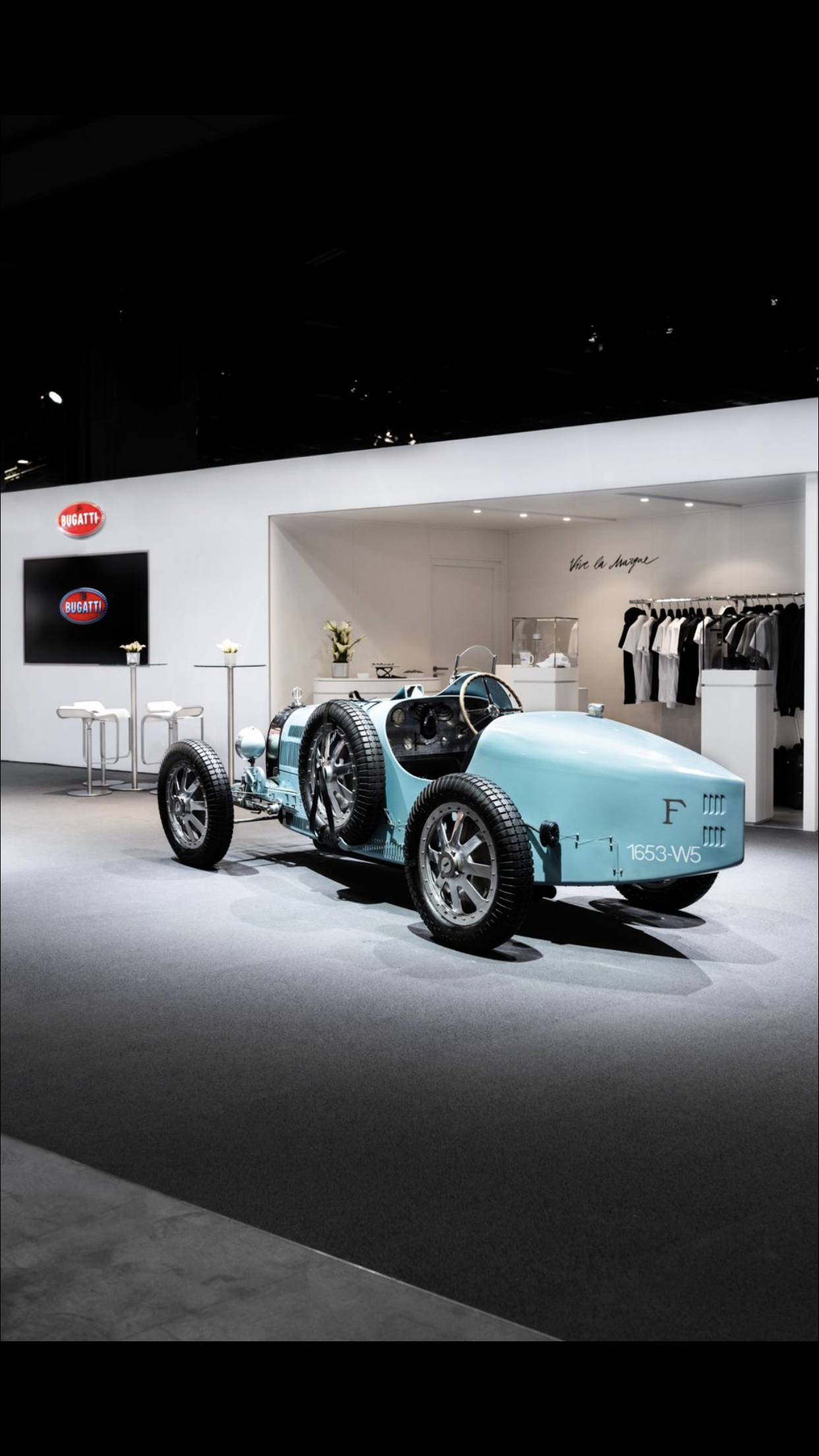 Retromobile Exihibition Inauguration of the official Bugatti store The future of offline and online retail converge thanks to AUDES